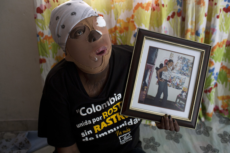 "Consuelo Cordoba at the place where she rents a room. ""The truth is life is too hard and I am alone. I just do not see an alternative,"" she said. ' I've tried to commit suicide."""