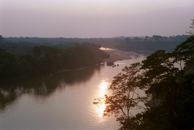 A view of the Caguan river, Colombia