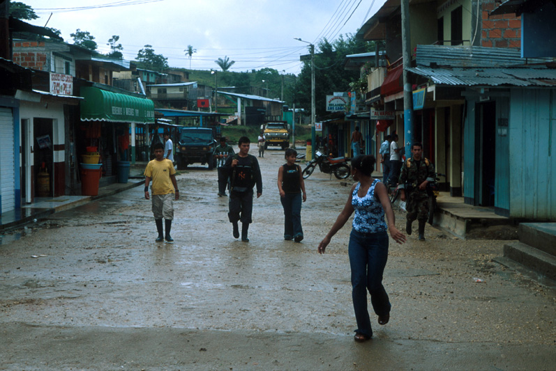 FARC guerrillas in the town of Peñas Coloradas, Colombia