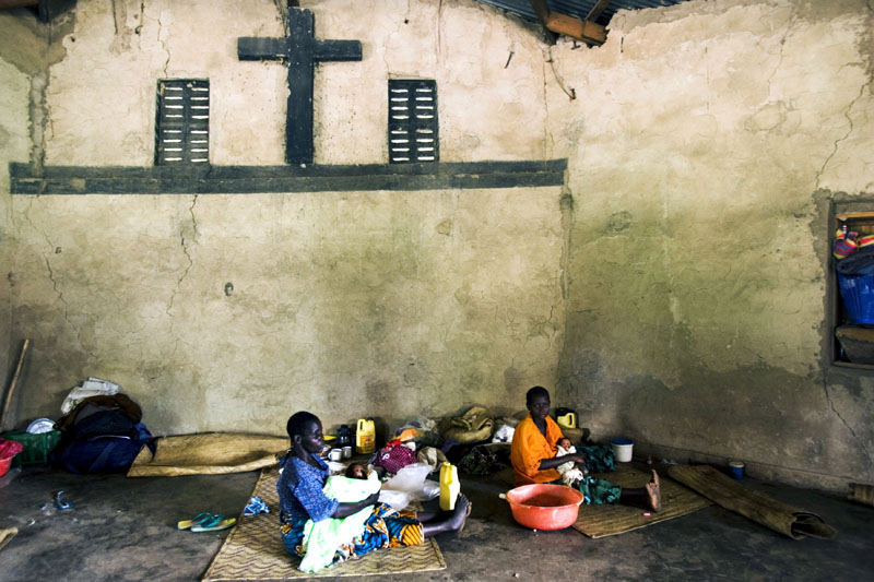 "Displaced people / Displaced people camp at ""Cite Anglican"" in the village of Komanda, DR Congo"