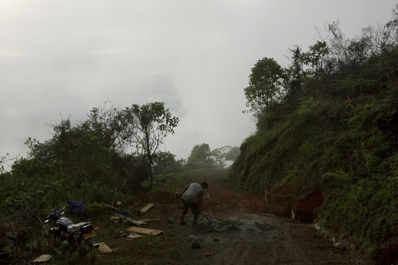 Road work, Cauca, Colombia
