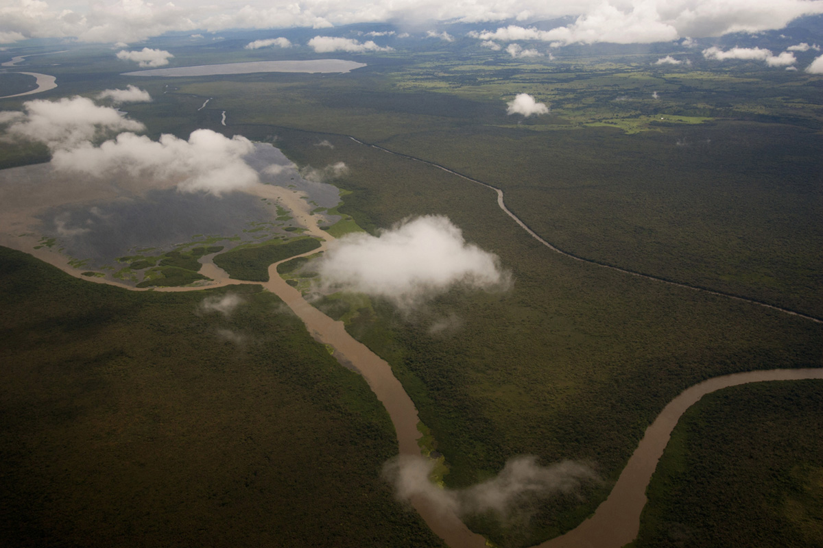 An aerial view of the Darien gap near the town of Unguía, Colombia, 2010.