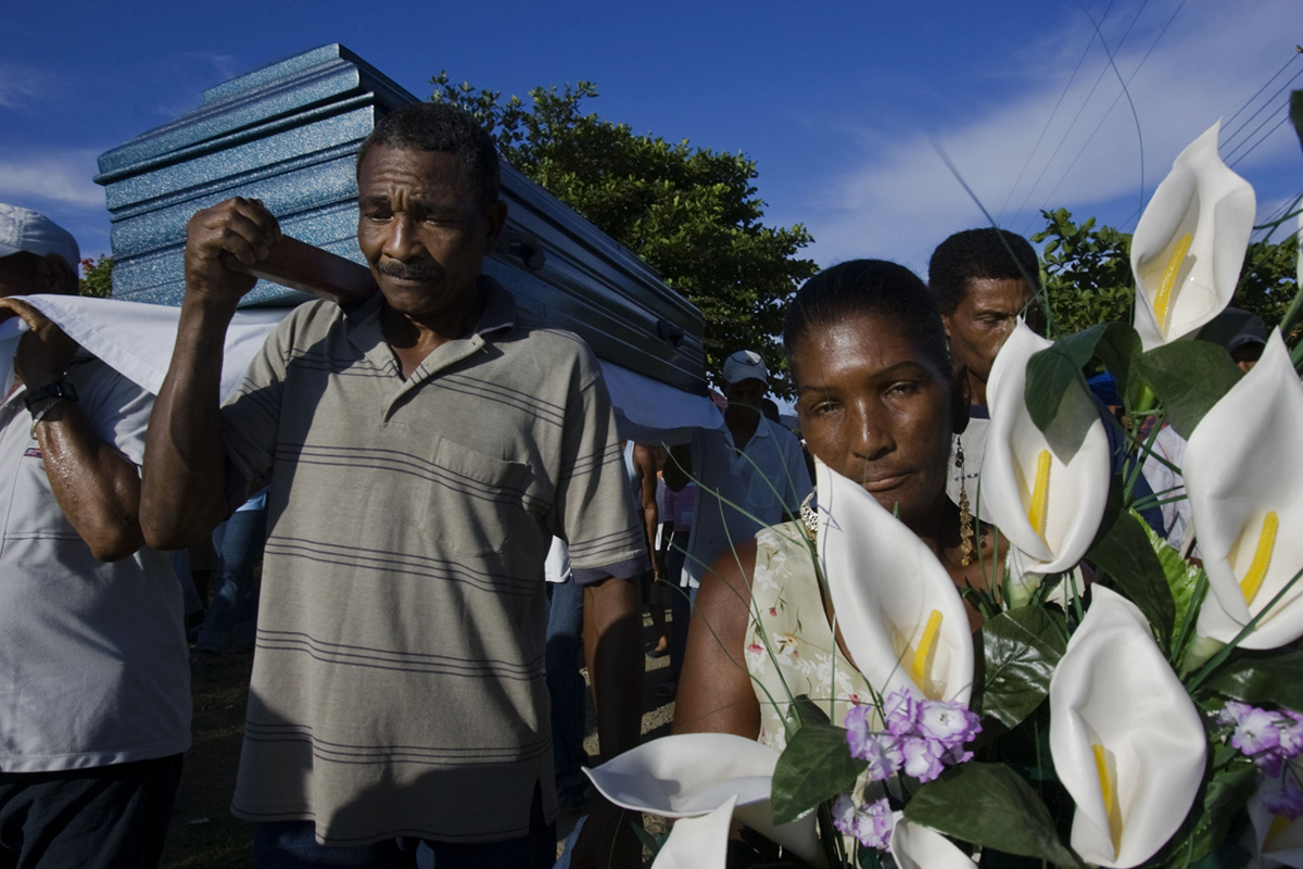 A funeral in the town of Acandi, Colombia, 2007.